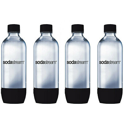 4x SodaStream Carbonating BK 1L Bottle for Drink Maker Source Metal/Play/Spirit