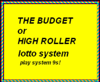 Lotto System Strategy