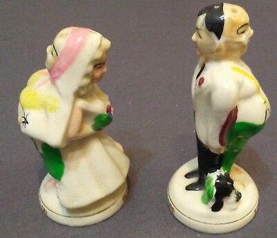 "Salt & Pepper shaker, Made in Japan, ""Time Marches On"" humor"
