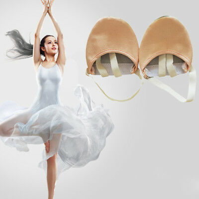 Half Lyrical Leather Sole Pointe ballet Dance Shoes Rhythmic Gymnastics-Slippers