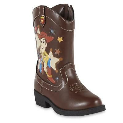 NEW Boys Toddler Disney TOY STORY Woody Western Cowboy Boots 6 7 8 9 10 11 12