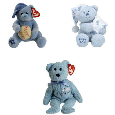 TY Beanie Babies - BABY BOY the Bears (Set of 3 Styles) (6.5-8.5 inch) - MWMTs