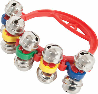 20 X Hand Sleigh Bells Red Plastic Kids Percussion for Schools or Choirs