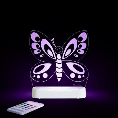 ALOKA Butterfly LED Sleepy Baby Night Light COLOR CHANGE Timer & Remote