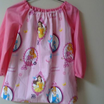 Kids Disney Princess Art Smock Girls  4-7 With Thermal Lining On Front