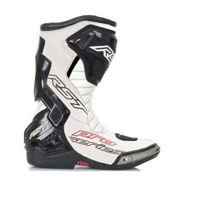 RST Pro Series White / Black Moto Motorcycle Motorbike Race CE Boots | All Sizes