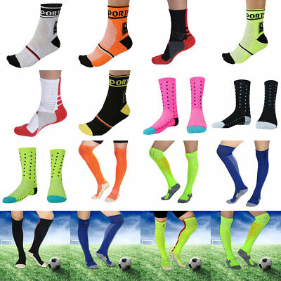 Men Stretch Compression Long Socks Outdoor Running Cycling Football Sports TP
