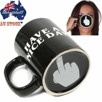 Have A Nice Day Middle Finger Ceramic Home Coffee Mug Cup Novelty Funny Gift NAU