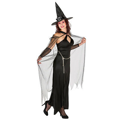 Women Costume Queen of the Night Ladies Halloween Fancy Dress Outfit Witch
