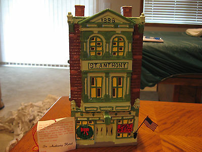 Dept 56 SNOW VILLAGE * St Anthony Hotel Post Office * #5006-7 & Girl at Mailbox