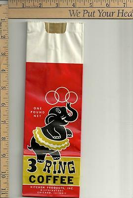 1 NOS 3 Ring 1# coffee bag see scan chicago illinois no zip