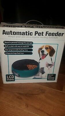 6 Meal/day Auto Pet Feeder/ Dispenser For Cat/dog - Used Once