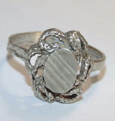 Antique French Vintage Estate Victorian Sterling Silver Ring US Size 8 925