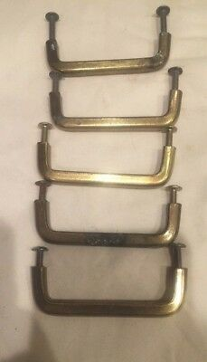 Set of 5 Vintage Brass Keeler Brass Co KBC Drawer Pulls Handles