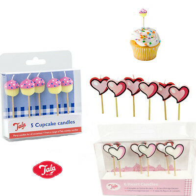 Cake Topper Candles Birthday Party Blowing Heart Cupcake 5/6 Candles Decorations
