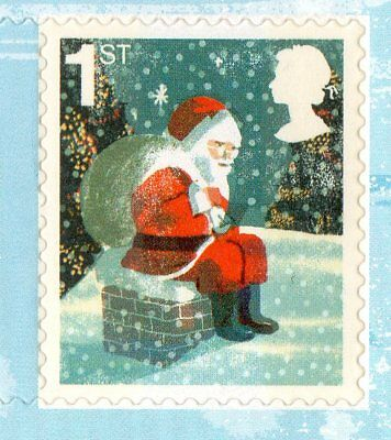 40 CHRISTMAS STAMPS - 20 x 1st + 20 x 2nd CLASS STAMPS UNUSED - BRAND NEW UNUSED