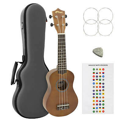 Tiger Natural Soprano Ukulele with Hard Case