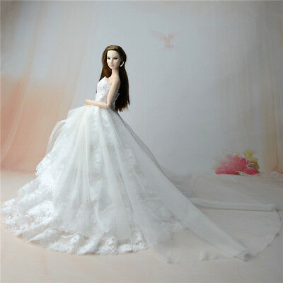 White Fashion Party Dress/Wedding Clothes/Gown For 11.5in.Doll S801