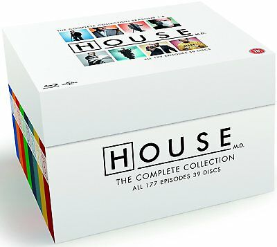House - The Complete Series Collection [Blu-ray Box Set, Region Free, Drama] NEW