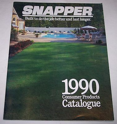 1990 Snapper catalogue lawn mowers riding mowers yard tractor vintage