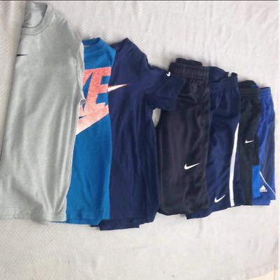 Boys Nike Adidas Clothing Lot Small-Medium Athletic Tops & Bottoms 7PC! (A)