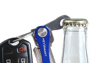 Compact Keychain Organizer Stainless Steel Smart Key Holder Bottle Opener Silver