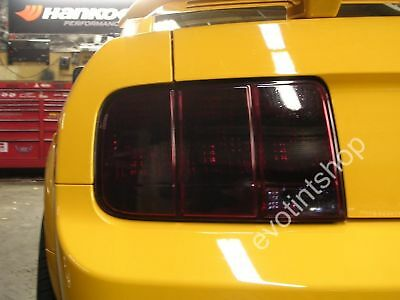 05-09 Mustang Smoke Tail Light Tint Cover Blackout Gt