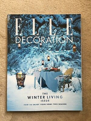 Elle Decoration JANUARY 2017 back issue No. 293 NEW MINT The winter living