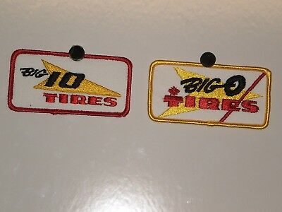 2 Big O Tires Patches NOS