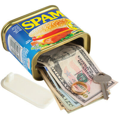 NEW Spam Can Secret Safe Looks Real Hides Cash Jewelry And Keys In Your Pantry