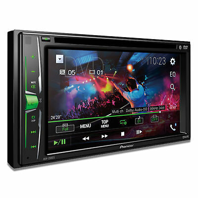 "Pioneer AVH-200EX 2-DIN 6.2"" DVD/CD/iPhone/Android Receiver with Bluetooth"