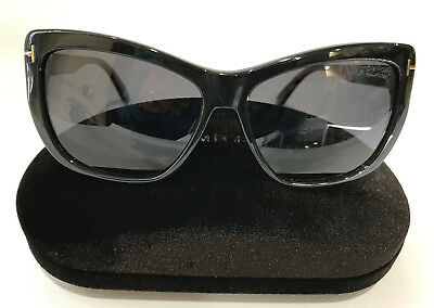 d2523a891c583 Brand New Tom Ford TF434 01D Lindsay Black Grey Polarized Sunglasses  Authentic