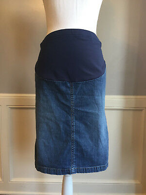 Old Navy Women's Maternity Stretch Denim Penci Jean Skirt Adjustable Waist Sz XS
