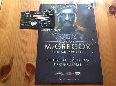 Conor McGregor MMA Official Programme Floyd Mayweather Boxing Match Ticket 2017