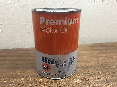 Vintage Unocal- Union 76- Premium Motor Oil- 20W/20 quart can FULL!~ 1970 & 80's