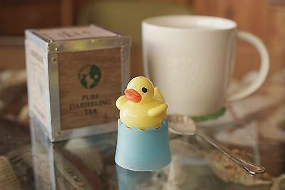 Floating Duck Tea Infuser with Base, cute and funny gift, best cup of tea ever!