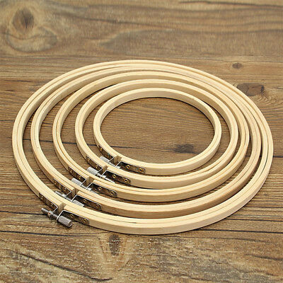 13-27cm Wooden Cross Stitch Machine Embroidery Hoop Ring Bamboo Sewing