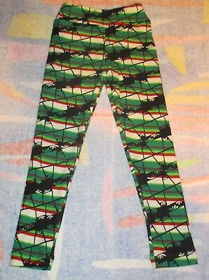 NEW IN PACK Lularoe Kids S/M Leggings RED GREEN CHRISTMAS WHITE