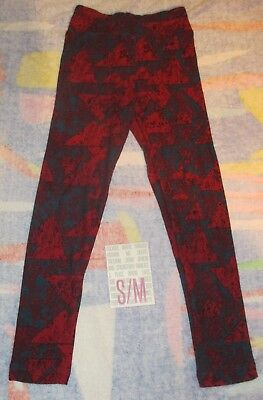 NEW IN PACK Lularoe Kids S/M Leggings DARK RED BLUE and BLACK