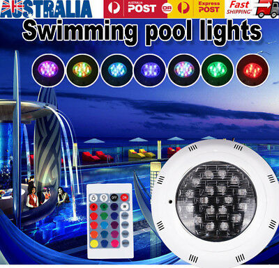 7 Color 24V 252 LED RGB Underwater Swimming Pool Bright Light + Remote Control
