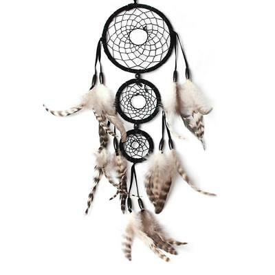 Handmade Black Dream Catcher Net With Feather Wall Hanging Craft Gift Room Decor