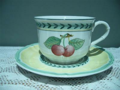 Villeroy & Boch Lovely Large Breakfast Cup & Saucer - French Garden - Vgc