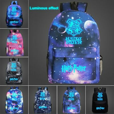 Harry Potter Hogwarts Night Luminous Student Schoolbag Book Bag Backpack Satchel