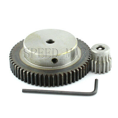 1M-60T-15T Module 1 Motor Metal Gear Wheel Set Kit Ratio 4:1 Wheelbase 37.5mm