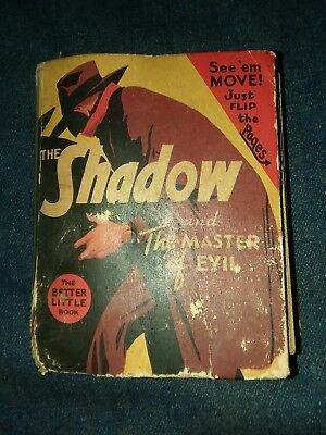 THE SHADOW #1443 THE MASTER OF EVIL BIG LITTLE BOOK 1941 golden age comics lot