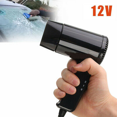 Portable 12V Travel Car Folding Camping Hair Dryer Window Defroster 1.2m cable