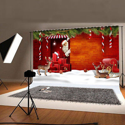 5x7ft Merry Christmas Vinyl Photo Backdrops Photography Background Studio Props