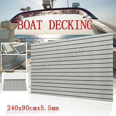 95''x35'' Grey Adhesive Marine Boat Flooring EVA Yacht Sheet Teak Decking Carpet