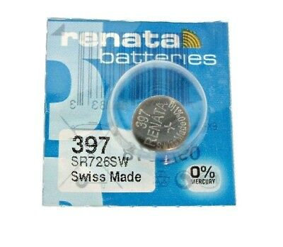 1 PCS Renata SR726SW 397 1.55V Silver Oxide Battery for Watch Swiss Made