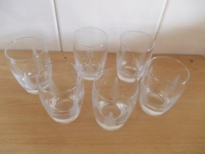 Vintage Stuart Crystal Glasses X 6, Woodchester Fern, Tumblers